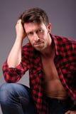 Portrait of a calm man Stock Images