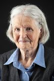 Portrait a calm senior woman looking at the camera Royalty Free Stock Image