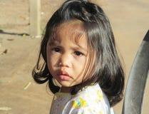 Portrait cambodgien de petite fille Photographie stock