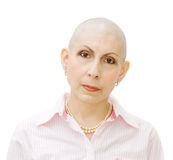 Portrait of cancer patient Royalty Free Stock Image