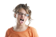 Portrait of a capricious little girl. Stock Photography