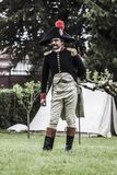 Portrait of a captain of the napoleonic army Stock Photos