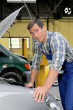 Portrait of car repairer Stock Photos