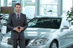 Portrait of car salesperson Royalty Free Stock Images