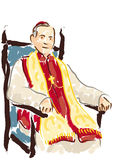 Portrait of Cardinal Stock Images
