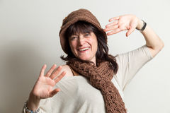 Portrait of carefree and cheerful woman Royalty Free Stock Photos