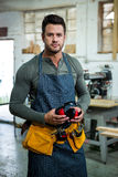 Portrait of a carpenter Stock Photography