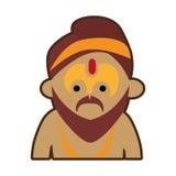 Portrait cartoon man sadhu culture india. Vector illustration eps 10 Stock Photo