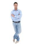 Portrait of casual businessman stock image