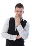 Portrait of casual businessman smiling Stock Images