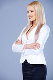 Portrait of casual dressed blond woman Royalty Free Stock Photography
