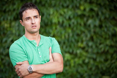Portrait of a casual handsome man Royalty Free Stock Images
