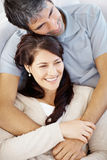 Portrait of  casual happy couple together Stock Images