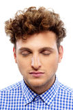 Portrait of a casual man with closed eyes Stock Images