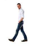 Portrait of a casual man walking Royalty Free Stock Photos