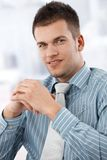 Portrait of casual office worker smiling Royalty Free Stock Photo