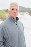 Portrait of a casual senior man at beach Royalty Free Stock Photos