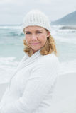 Portrait of a casual senior woman at beach Stock Photography
