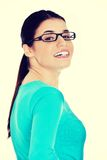Portrait of a casual woman in eyeglasses. Royalty Free Stock Photo