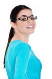 Portrait of a casual woman in eyeglasses. Stock Photo