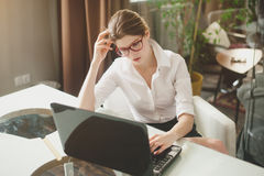 Portrait of a casual young businesswoman Stock Images