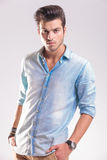 Portrait of a casual young fashion man posing Royalty Free Stock Photography
