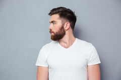 Portrait of a casual young man looking away Royalty Free Stock Images