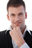 Portrait of casual young man smiling Stock Photos
