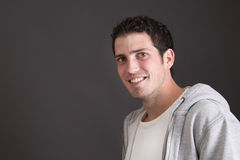 Portrait of casual young smiling man Royalty Free Stock Image