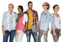 Portrait of casually dressed young people Royalty Free Stock Image