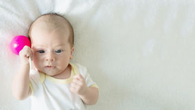 Portrait of caucasian baby royalty free stock images