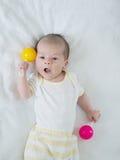 Portrait of caucasian baby stock images