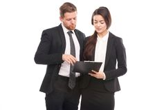 Colleagues in business stock photography