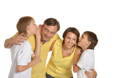 Portrait of Caucasian family. Of four in the studio Stock Photography