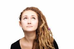 Girl with dreadlocks. Portrait of a caucasian girl with dreadlocks hairstyle Royalty Free Stock Photography