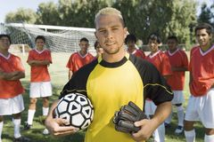 Portrait Of Caucasian Goalkeeper Royalty Free Stock Image