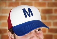 Portrait of Caucasian man wearing a cap Stock Image