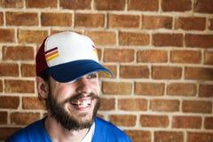 Portrait of Caucasian man wearing a cap Royalty Free Stock Photo
