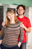Portrait of Caucasian man and woman standing together Stock Photo