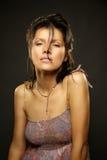 Portrait of caucasian woman Stock Images