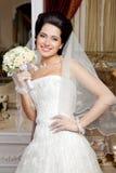 Portrait of caucasian young bride smiling Stock Photos
