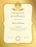 Portrait certificate of achievement template in vector with appl Royalty Free Stock Photography