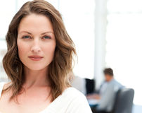 Portrait of a charismatic woman at a meeting Stock Image