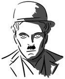 Portrait of Charlie Chaplin in grey tones Stock Photos