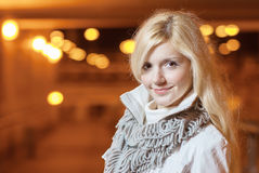 Portrait of charming blonde Royalty Free Stock Images