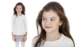 Portrait of a charming brunette little girl Stock Photography