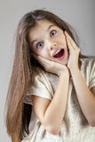 Portrait of a charming brunette little girl Stock Image