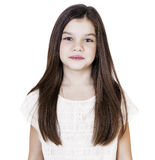 Portrait of a charming brunette little girl Royalty Free Stock Images