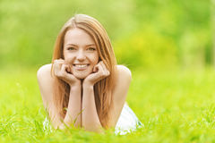 Portrait of charming fair-haired girl Royalty Free Stock Photography