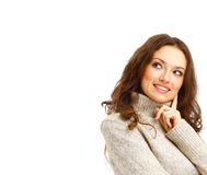 Portrait of a charming female posing Royalty Free Stock Images